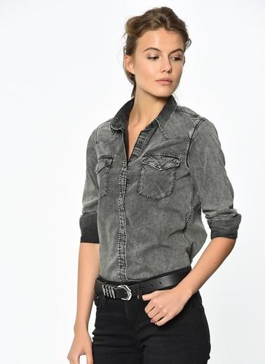 Jean Gömlek | Isabel - Dar Kesim-Mavi